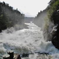Vattenfallen i Trollhättan. Norra Dammluckorna. 2011.
