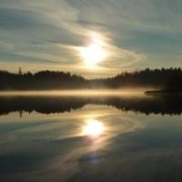 Kalltorps Ekhage, vid sjön Gravlången.