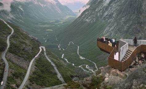 28 Trollstigen, Norge Tavla