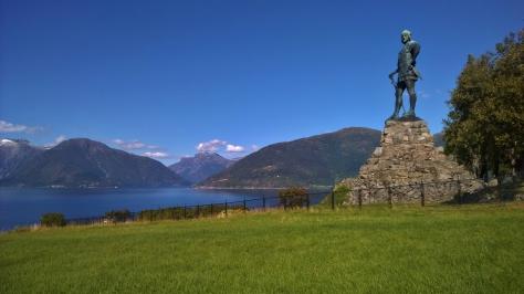 61 Fridtjof statyn på Vangsnes, Norge