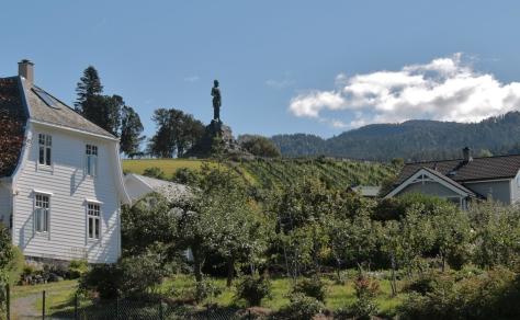 63 Fridtjof statyn på Vangsnes, Norge