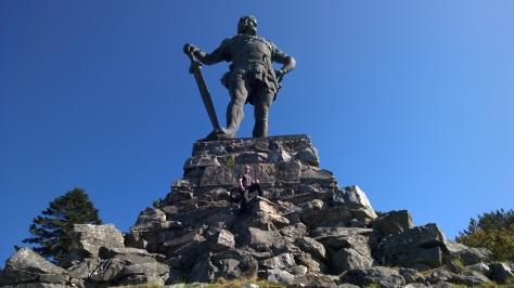 64 Fridtjof statyn på Vangsnes, Norge