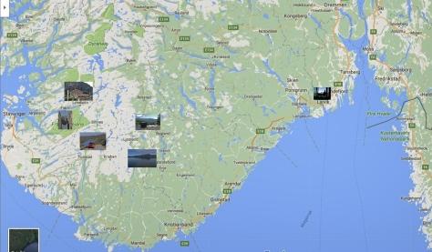 Karta över resan till Lysbotn.