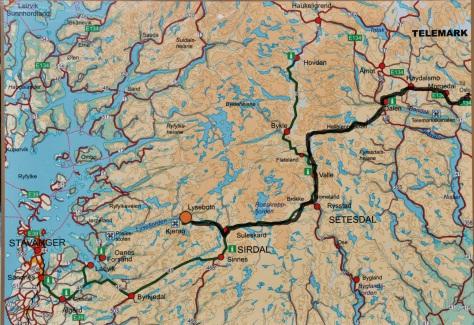 Vägen från Lysebotn.
