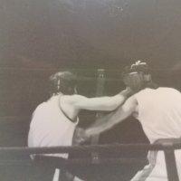 Foto minne från boxningsmatch i Helsingborg.